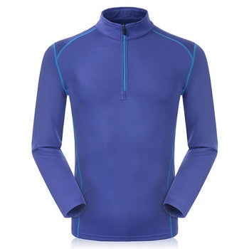 Men Sport Shirt Thermal Quick Dry Hiking Breathable Long Sleeve Fleece Outdoor Camping Shirt