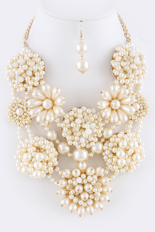 Lavish Pearl Bib Necklace