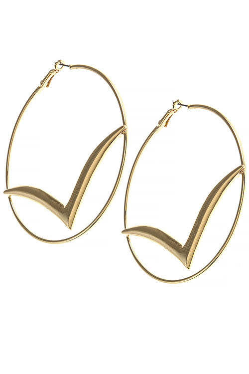 Chevron Hoop Earrings