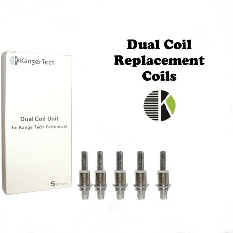 Kangertech Dual Coil Heads 1.8ohm (Pack of 5)