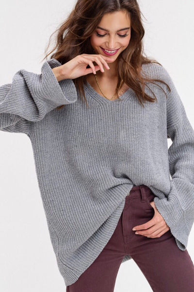 Ring the bells sweater - Heather grey