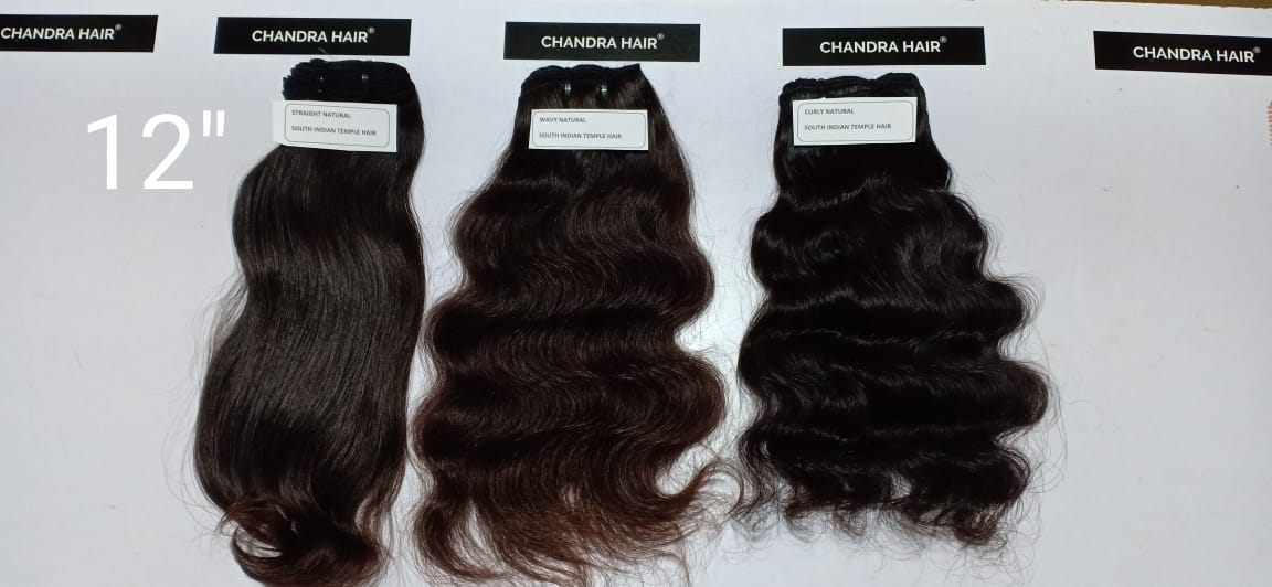 Natural Curly South Indian Raw Hair - Chandra Hair