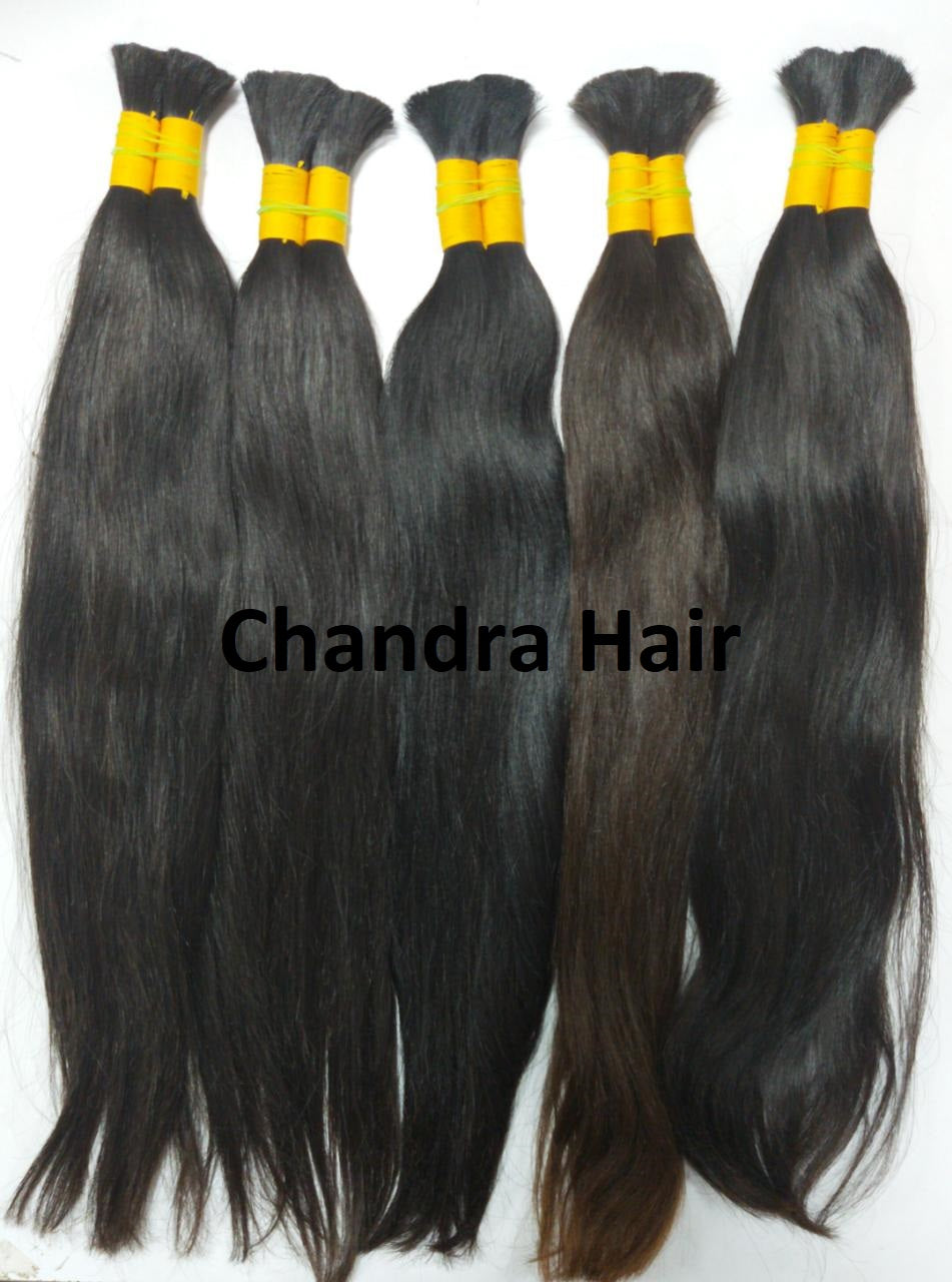 South Indian Raw Hair - Bulk Hair Natural - Chandra Hair