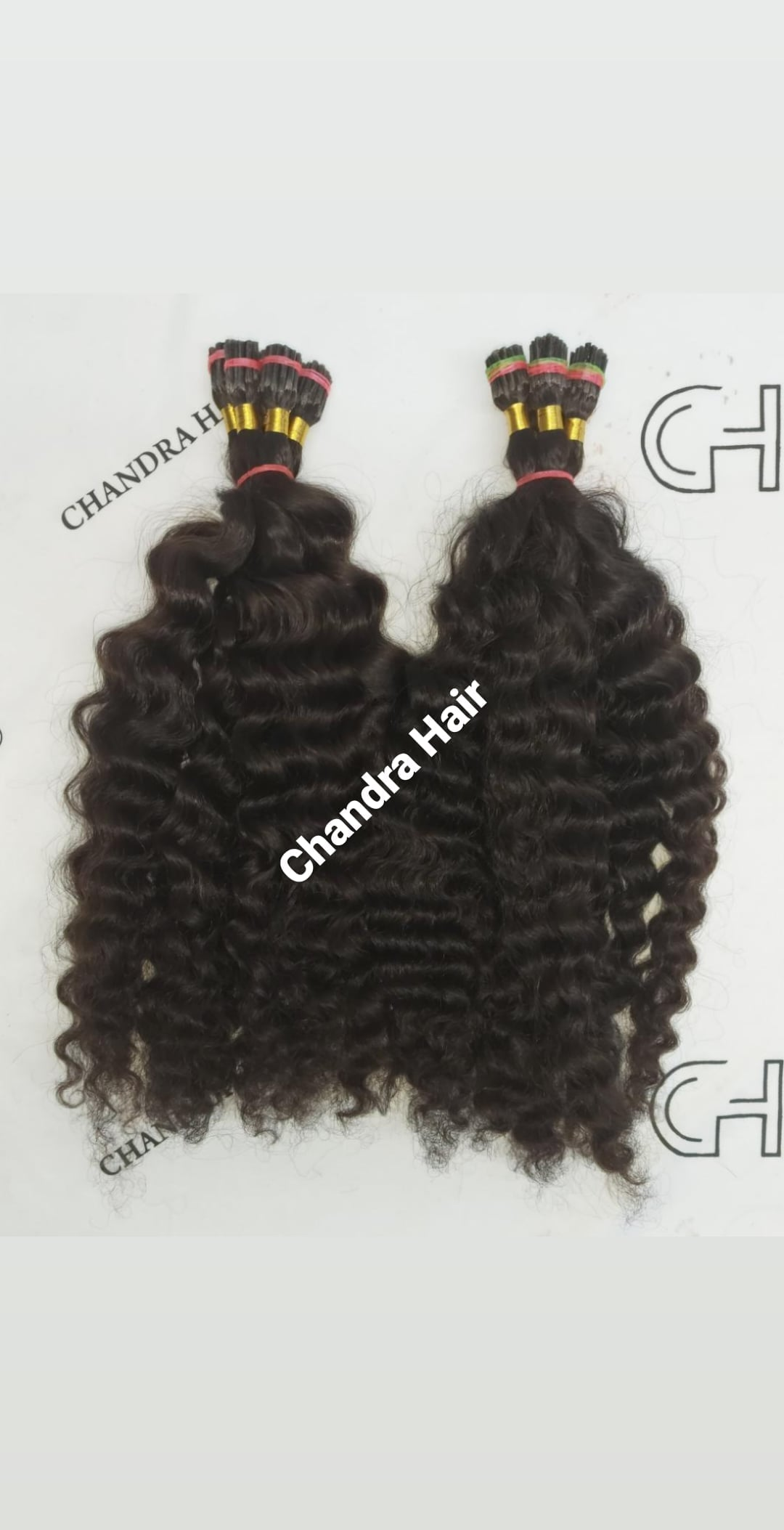 Loose Curly ITIPS MICROLINKS - South Indian Raw Hair