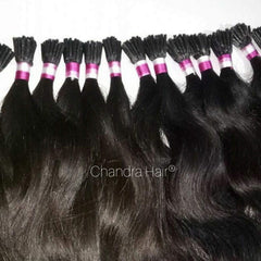 Natural Straight I-TIPS - South Indian Raw Hair - Chandra Hair