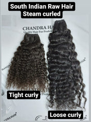Steamed Curly South Indian Raw Hair GRADE 2
