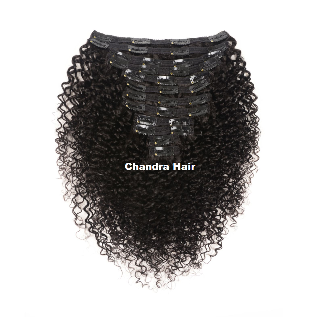 Clip-ins Curly Hair Extensions Grade 8A - Chandra Hair