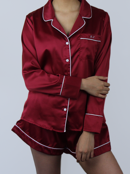CLASSIC RUBY RED PYJAMA SET