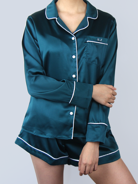 CLASSIC EMERALD GREEN PYJAMA SET