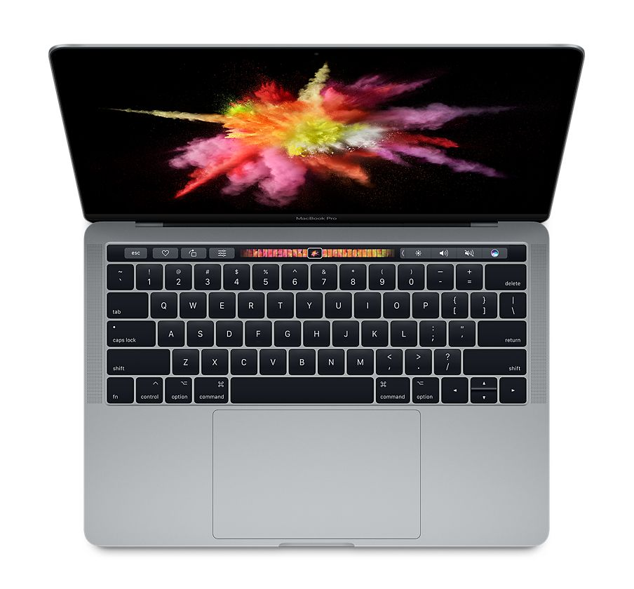 "MacBook Pro 13"" (2017) – MacBookPro14,2 (A1706) – Core i5 (i7 BTO), 4 TB3-portar, TouchBar"