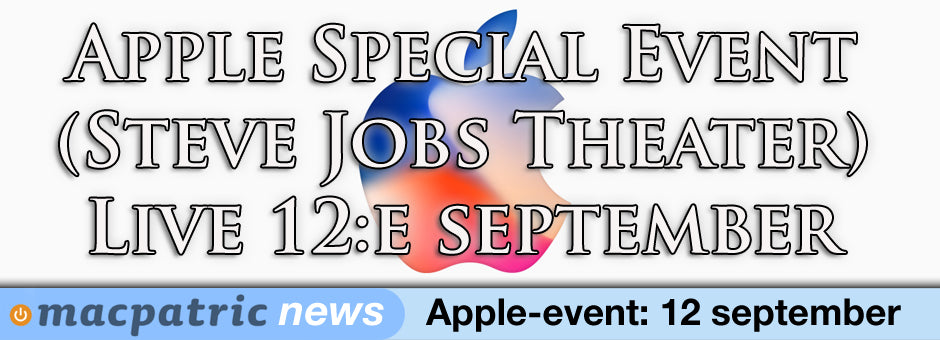 Nytt Apple Special Event spikat - 12 september (live-streamas)