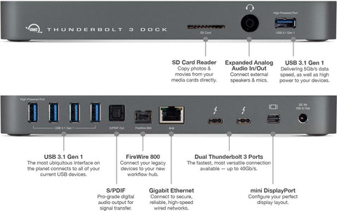 Thunderbolt 3 Dock 13 ports, endless possibilities