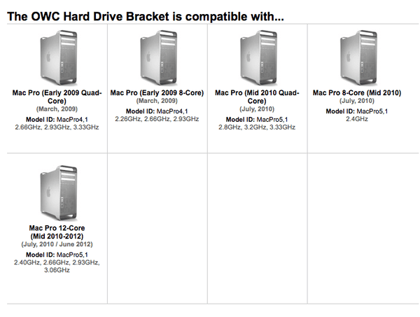 OWC Hard Drive Sled / Bracket for Mac Pro 2009, 2010, 2012 'Westmere' & 'Nehalem' Models - Macpatric