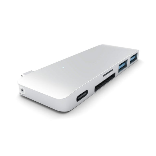"Satechi Type-C Pass Through USB Hub – 3-i-1 hub. Kompatibel med 12"" MacBook, tillåter laddning! - Macpatric"