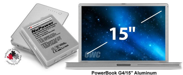 NewerTech NuPower 58 Watt-Hour Battery for all PowerBook G4 15-inch Aluminum models - Macpatric