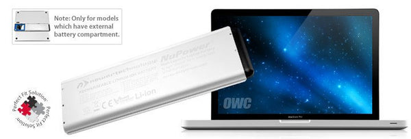 "NewerTech NuPower 58 Watt-Hour Battery for MacBook Pro 15"" Unibody Late 2008 / Early 2009 - Macpatric"