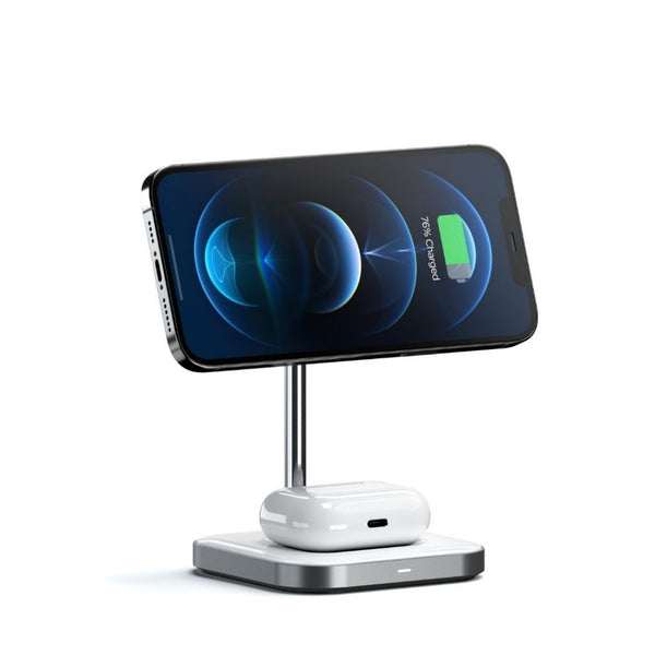Magnetic 2-in-1 Wireless Charging Stand