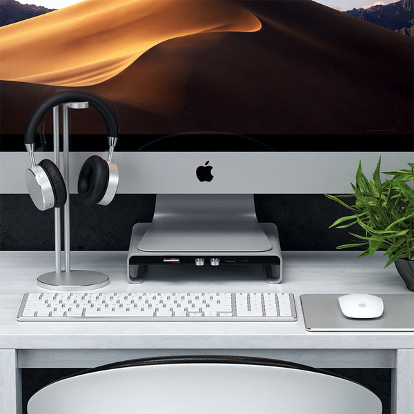 Satechi Type-C Aluminum Monitor Stand Hub for iMac