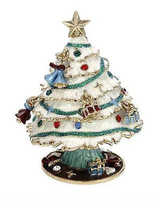 DAZZLERS Stunning enamel crystals Christmas Tree Trinket Jewelry Box - Random Finds Boutique