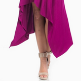 Magenta asymmetrical high low maxi dress