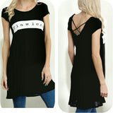 Black Flawless Tunic top or dress