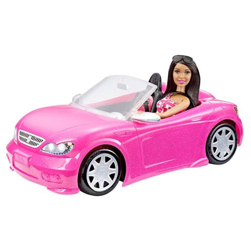 Barbie Glam Convertible Vehicle and Doll Case
