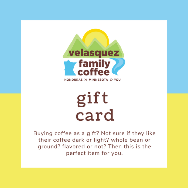 Velasquez Family Coffee gift card