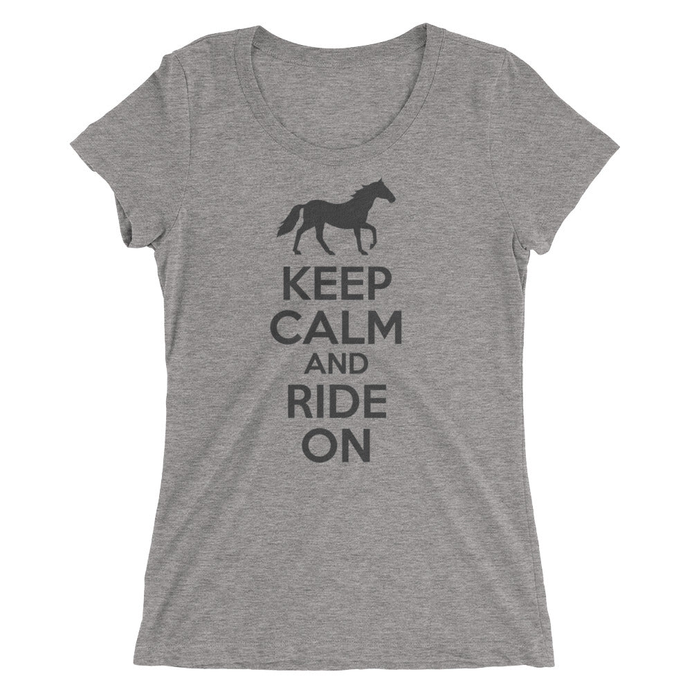 Keep Calm ladies' short sleeve tee – Gray