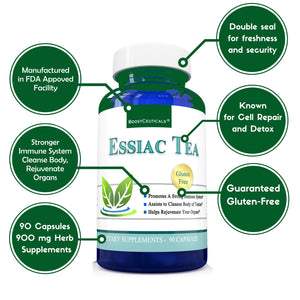 ESSIAC  TEA 900mg 90 CAPSULES - Boostceuticals