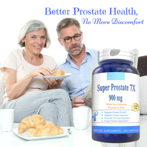 SUPER PROSTATE 7X 900mg 90 CAPSULES - Boostceuticals