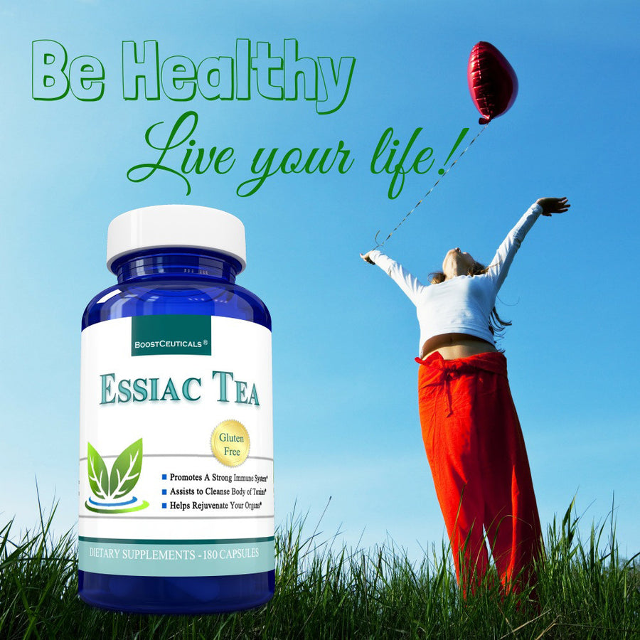ESSIAC TEA 900mg 180 CAPSULES - Boostceuticals