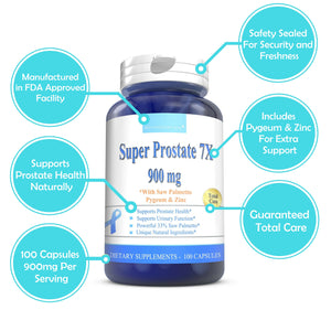 SUPER PROSTATE 7X 900mg 100 CAPSULES - Boostceuticals
