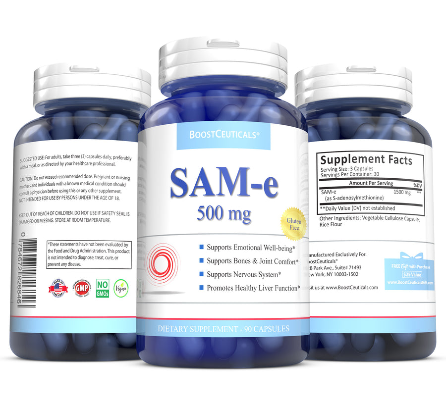 SAM e 500mg 90 CAPSULES - Boostceuticals