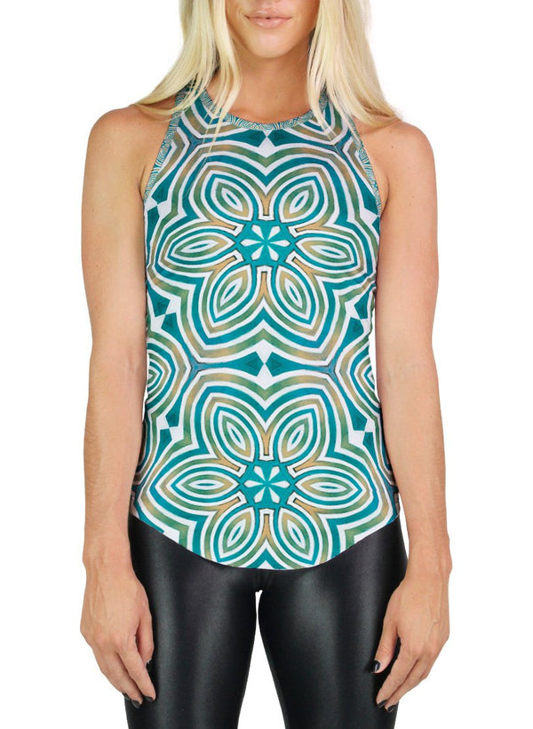 The Sun Shines for All Without Reservation Patterned Racerback Tank