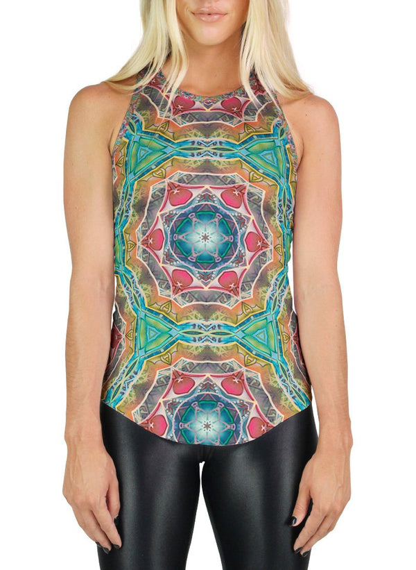 Call to Evolve Patterned Racerback Tank