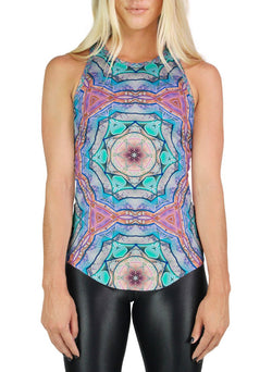 Evolve Inverted Patterned Racerback Tank
