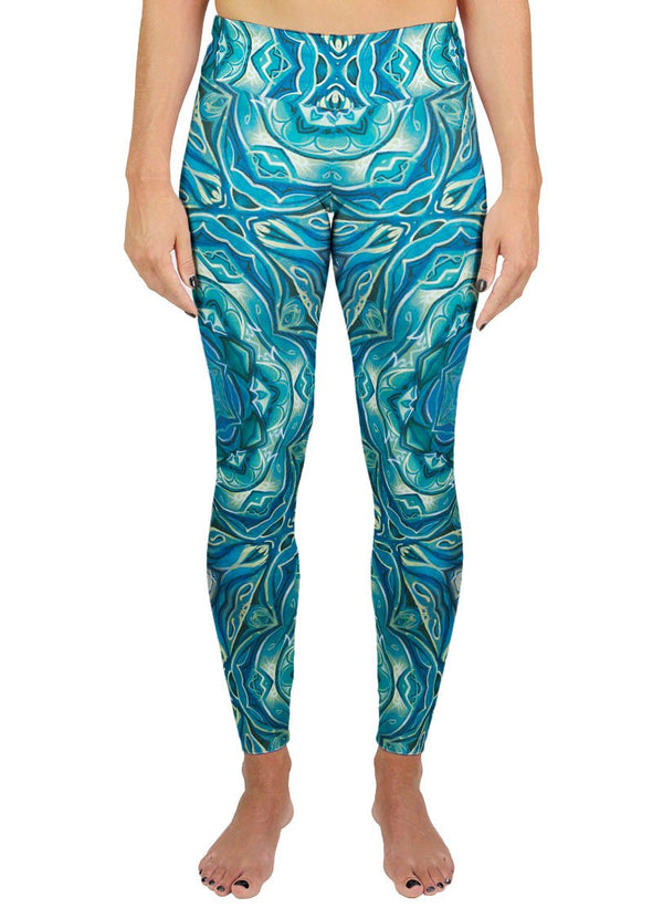 Dawn of Transcendental Jubilance Patterned Active Leggings