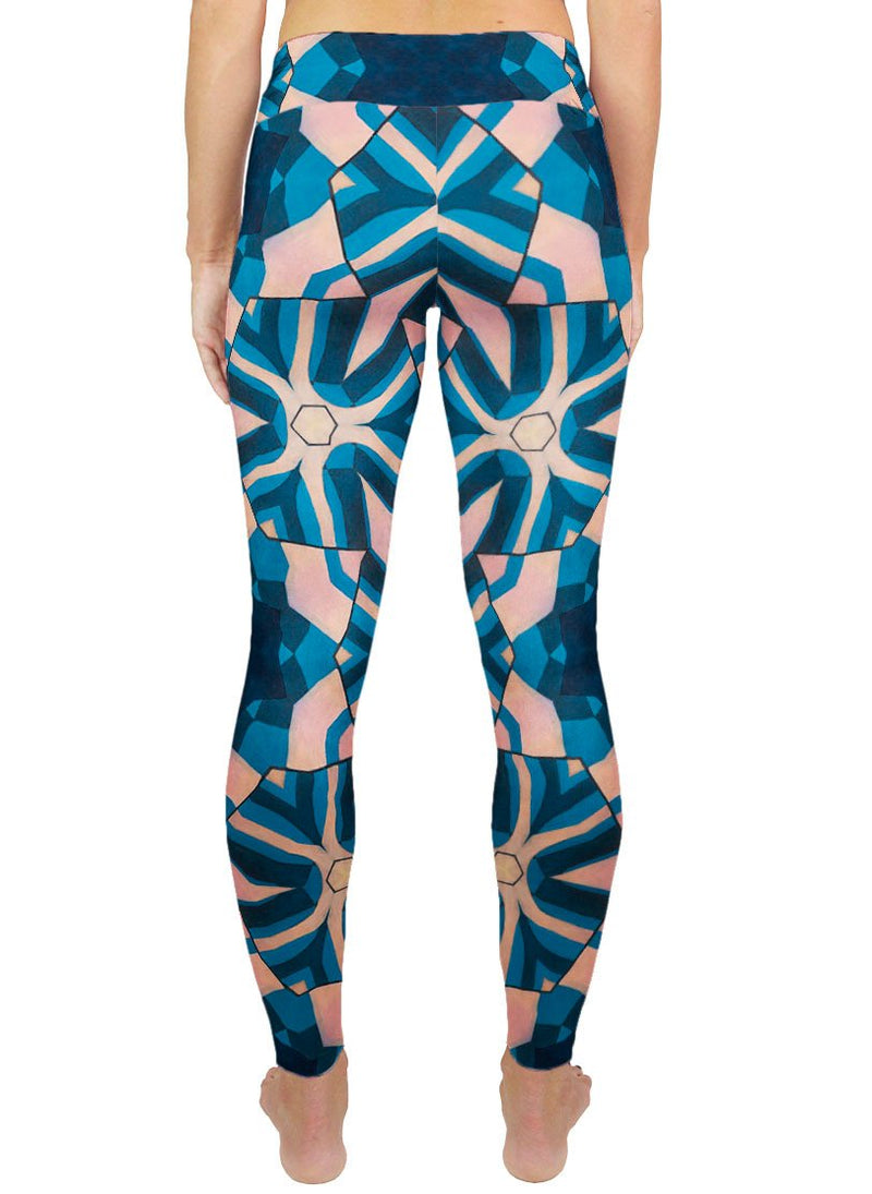 Frosted Fuck-Spokes Patterned Active Leggings