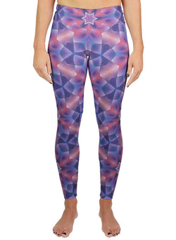 Star Petals Patterned Active Leggings