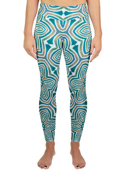 The Sun Shines for All Without Reservation Patterned Active Leggings