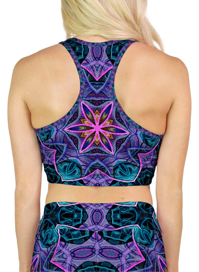 Maya Patterned Racerback Crop