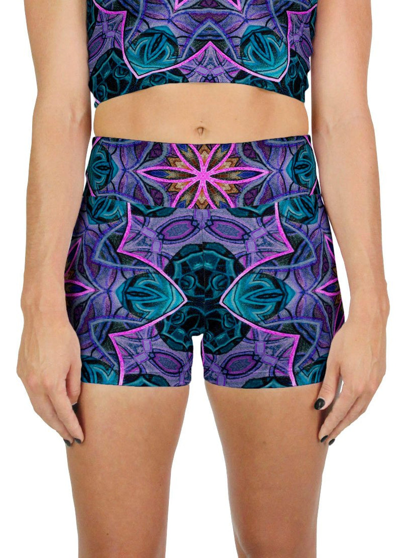 Maya Patterned Active Shorts