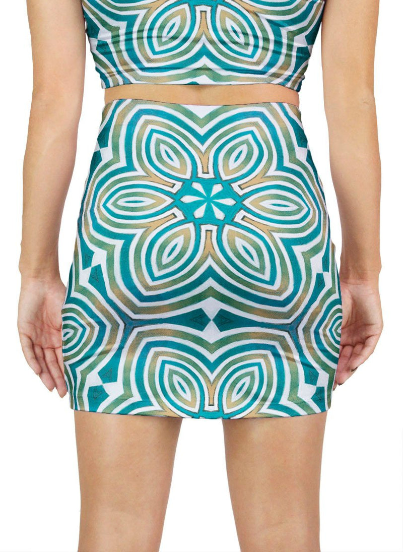The Sun Shines for All Without Reservation Patterned Mini Skirt