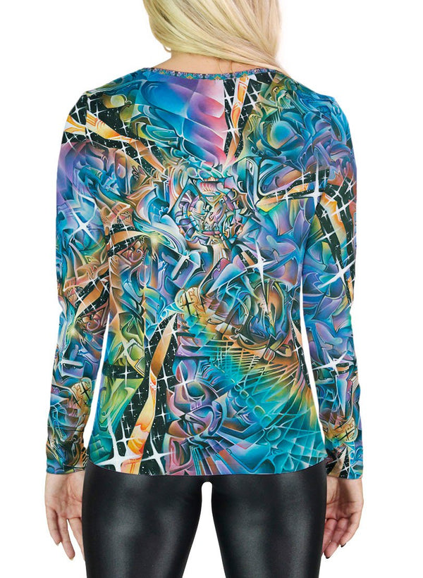Star Petals Womens Long Sleeve