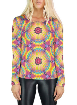 Universal Mind Patterned Womens Long Sleeve
