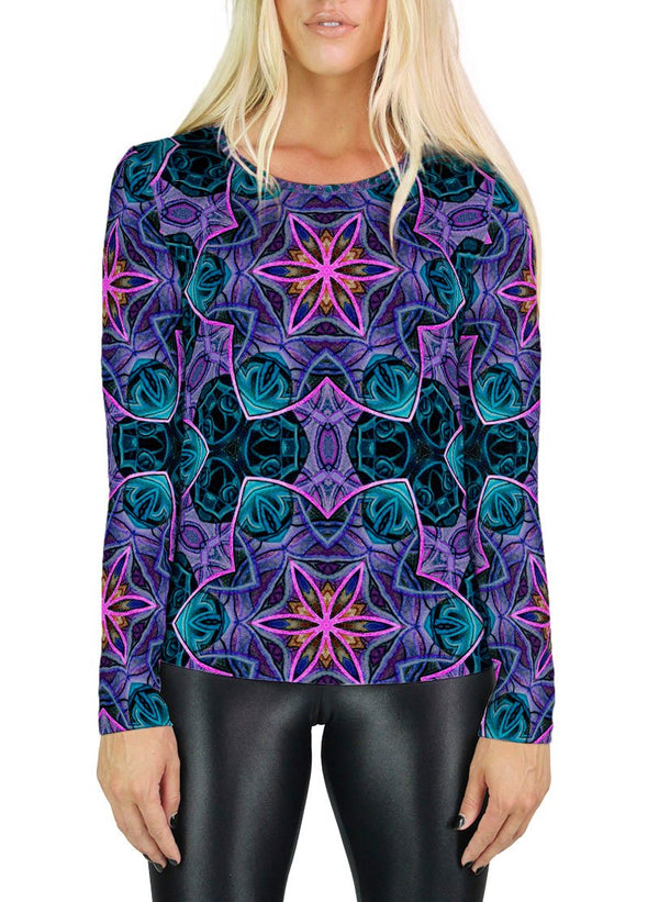 Maya Patterned Womens Long Sleeve