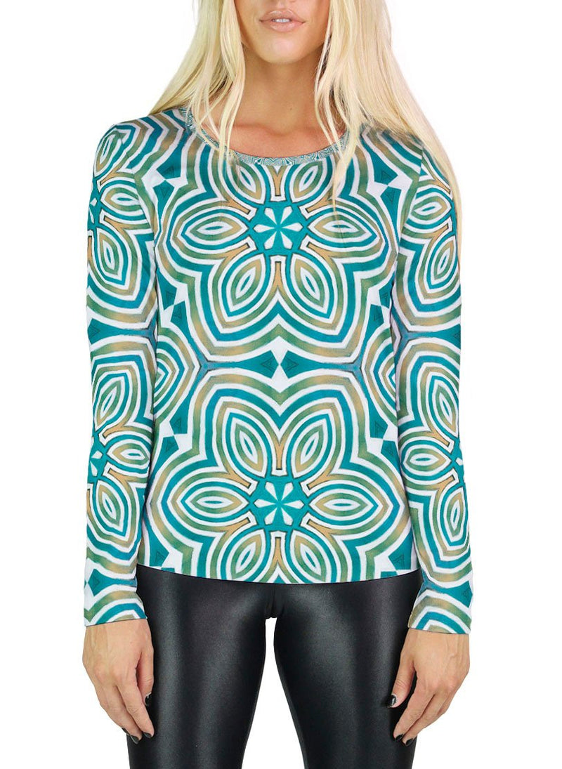 The Sun Shines for All Without Reservation Patterned Womens Long Sleeve