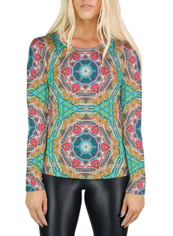 Call to Evolve Patterned Womens Long Sleeve
