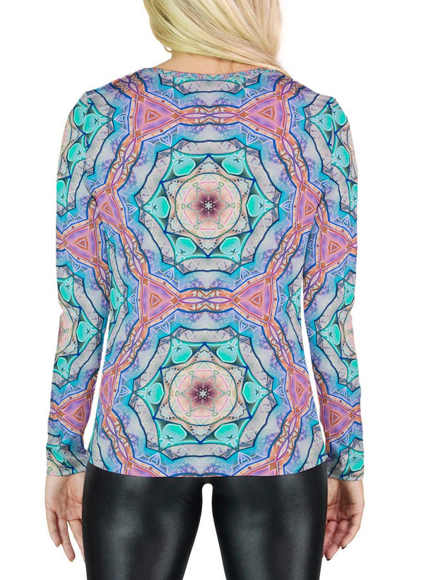 Evolve Inverted Patterned Womens Long Sleeve