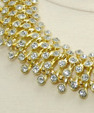 Necklace Sets -  Elegant Crystal Gold Necklace Set - 3just3 - 3